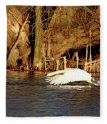 Skimming The Water Fleece Blanket