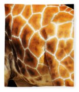 Skin Deep - Buy Giraffe Art Prints Fleece Blanket