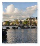 Skinny Bridge In Amsterdam Fleece Blanket