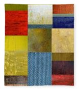 Skinny Color Study Ll Fleece Blanket