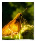 Skipper Butterfly With Sun Shine Fleece Blanket