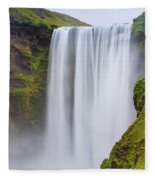 Skogafoss - Iceland Fleece Blanket