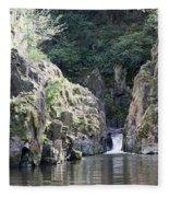 Skryje Waterfall And Pond Fleece Blanket