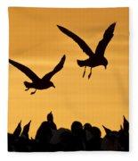 Skuas And Penguins Fleece Blanket
