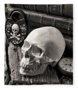Skull And Skeleton Key Fleece Blanket