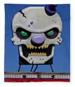 Skull Fun House Sign Fleece Blanket