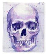 Purple Skull Fleece Blanket
