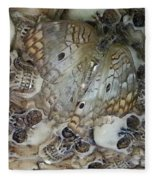 Skullnbutterfly Fleece Blanket