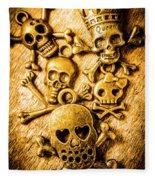 Skulls And Crossbones Fleece Blanket