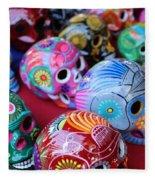 Skulls Day Of The Dead  Fleece Blanket