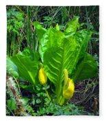 Skunk Cabbage In Bloom Fleece Blanket