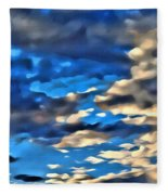 Sky And Clouds Fleece Blanket