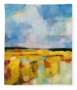 Sky And Marsh Fleece Blanket