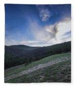 Sky And Mountains Fleece Blanket