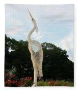 Sky Crane Fleece Blanket