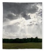 Sky Divided  Fleece Blanket