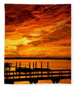 Sky Drama Fleece Blanket