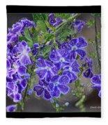 Sky Flower Window  Fleece Blanket