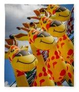 Sky Giraffes Fleece Blanket