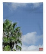 Sky Palm Fleece Blanket