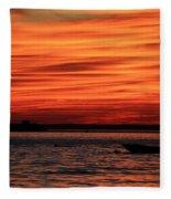 Sky Ripple Sunset Fleece Blanket