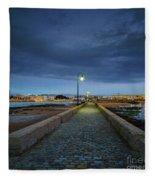 Skyline From The Walkway Cadiz Spain Fleece Blanket