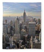 Skyline New York City  Fleece Blanket