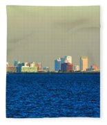 Skyline Of Tampa Bay Florida Fleece Blanket