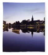 Skyline Over The R Garavogue, Sligo Fleece Blanket