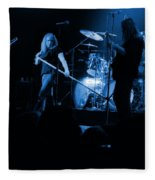 Skynyrd Sf 1975 #10 Crop 2 Enhanced In Blue Fleece Blanket