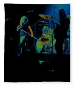 Skynyrd Sf 1975 #10 Crop 2 Enhanced In Cosmicolors Fleece Blanket