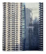 Skyscraper Windows Fleece Blanket