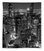 Skyscrapers Of Chicago Fleece Blanket