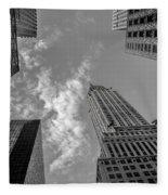 Skytops Manhattan Black And White Fleece Blanket