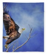 Skyward - Bald Eagle Fleece Blanket