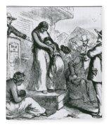 Slave Auction Fleece Blanket