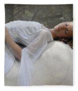 Sleep Of Innocents Fleece Blanket