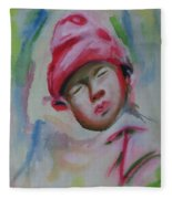 Sleeping Baby  Fleece Blanket