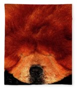 Sleeping Chow Chow Fleece Blanket