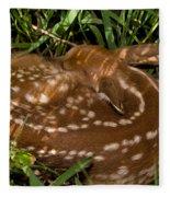 Sleeping Fawn Fleece Blanket