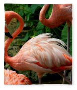 Sleeping Flamingo Fleece Blanket