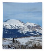 Sleeping Indian Mountain Fleece Blanket