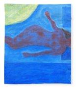 Sleeping Nude Fleece Blanket