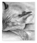 Sleeping Siamese Fleece Blanket