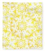 Sleeping Sun Fleece Blanket