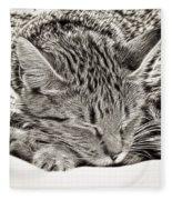 Sleeping Tabby Fleece Blanket