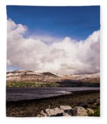 Slieve Mish Mountain In Snow Fleece Blanket