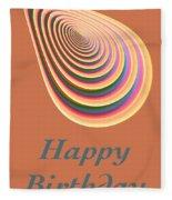 Slinky - Happy Birthday Card 2 Fleece Blanket