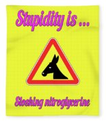 Sloshing Bigstock Donkey 171252860 Fleece Blanket