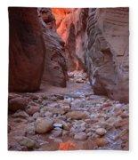 Slot Canyon Reflections Fleece Blanket